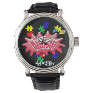 4MySon Autism Vintage Leather Strap Watch