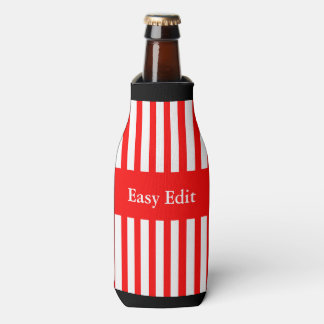 #4PetRescue Red Stripes Bottle Cooler
