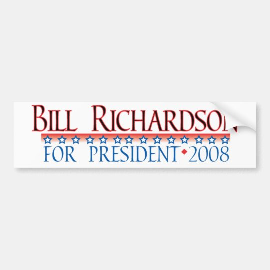 4prez-richardson bumper sticker