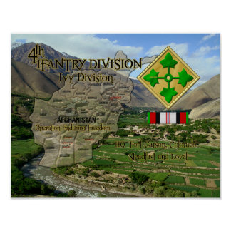 4rd Infanrty Division OEF Veteran Poster