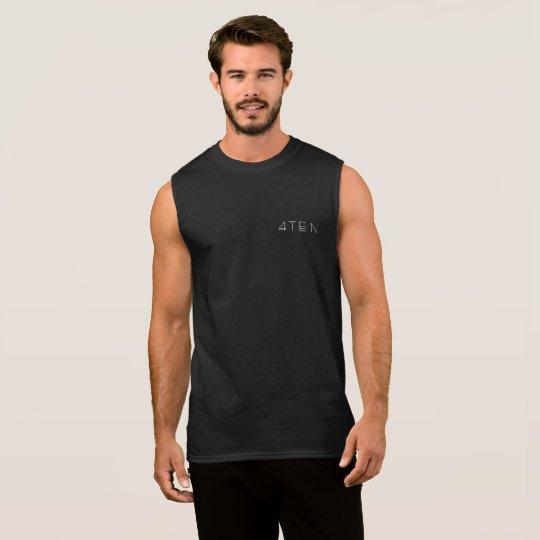 4TEN Black Vest Sleeveless Shirt