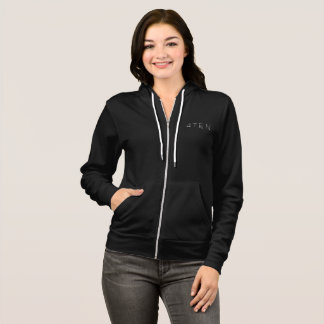 4TEN Womens Black Zip Hoodie