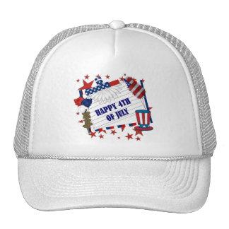 4TH 0F JULY MESH HAT