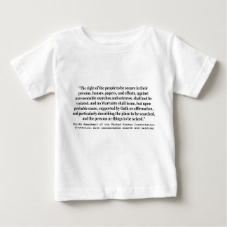 4th Amendment of the United States Constitution Baby T-Shirt