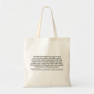 4th Amendment of the United States Constitution Tote Bag