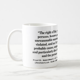 4th Amendment of the United States Constitution Basic White Mug