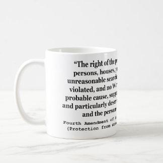 4th Amendment of the United States Constitution Basic White Mug