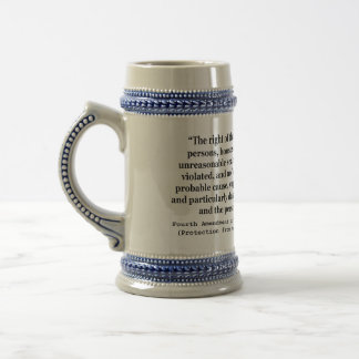 4th Amendment of the United States Constitution Beer Steins