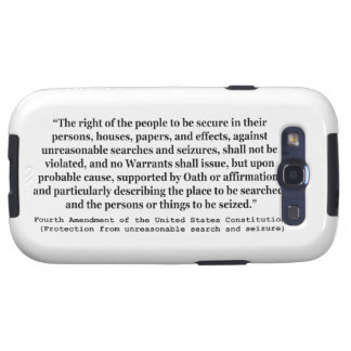 4th Amendment of the United States Constitution Galaxy S3 Cover