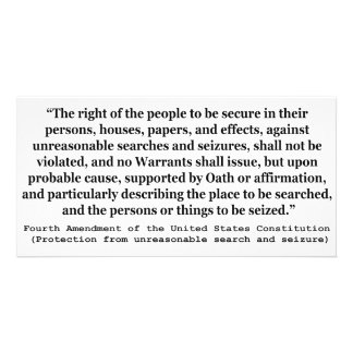 4th Amendment of the United States Constitution Photo Greeting Card