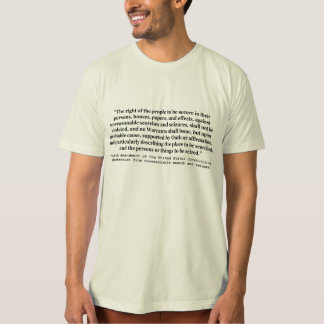 4th Amendment of the United States Constitution Tee Shirt