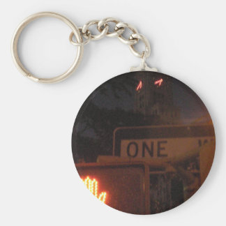 4th Ave. Night Basic Round Button Key Ring