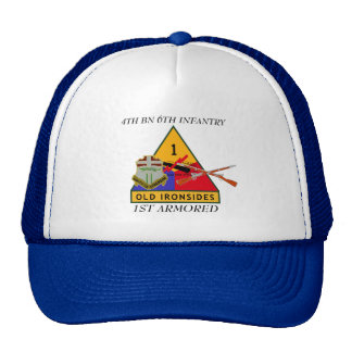 4TH BATTALION 6TH INFANTRY 1ST ARMORED HAT