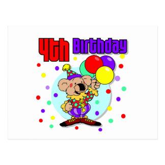 4th Birthday Australia Birthday Postcard