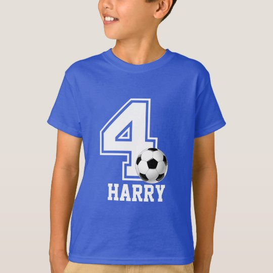 4th Birthday boy soccer personalised-2 T-Shirt