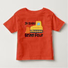 4th Birthday Bulldozer Construction Truck Toddler Toddler T-Shirt