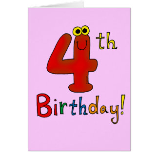 4th Birthday Cards