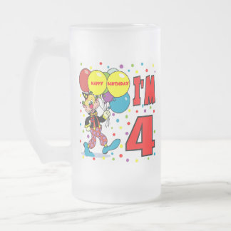 4th Birthday Clown Birthday Coffee Mugs