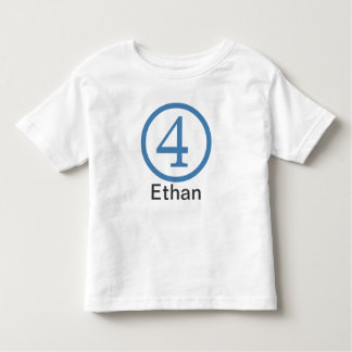 4th Birthday Customizable T-Shirt Boy