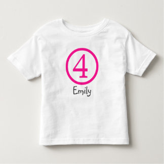 4th Birthday Customizable T-Shirt Girl
