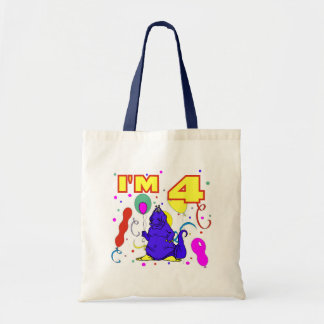 4th Birthday Dinosaur Birthday Tote Bag