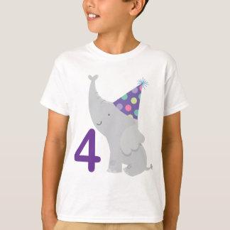 4th Birthday Elephant T-Shirt