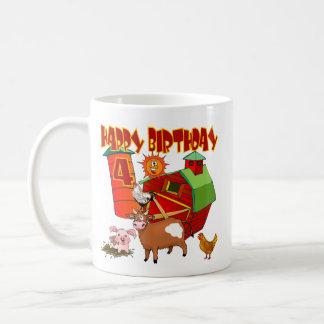 4th Birthday Farm Birthday Coffee Mugs