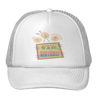 4th Birthday Gifts Mesh Hat