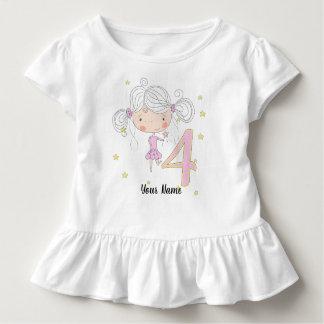 4th Birthday Pink Princess Toddler T-Shirt