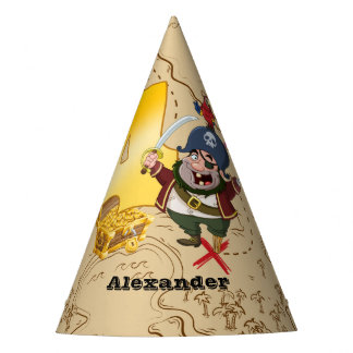 4th Birthday Pirate Treasure Map Party Hat