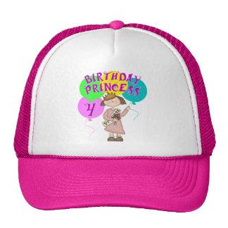 4th Birthday Princess Birthday Party Cap