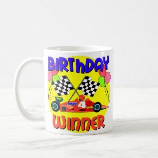 4th Birthday Race Car Birthday Coffee Mugs