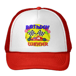 4th Birthday Race Car Birthday Trucker Hat