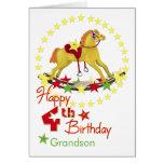 4th Birthday Rocking Horse Stars