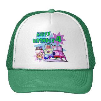 4th Birthday Space Birthday Cap