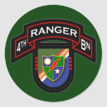 4th Bn, 75th Ranger Regiment - Airborne Round Sticker