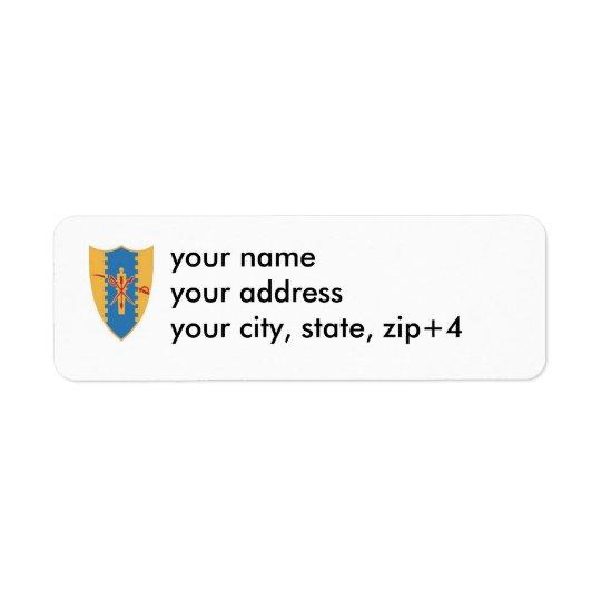 4th cavalry crest return address label.. return address label