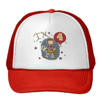 4th Cowgirl Birthday Tshirts and Gifts Hat