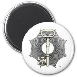 4th Degree: Secret Master or Master Traveler 6 Cm Round Magnet