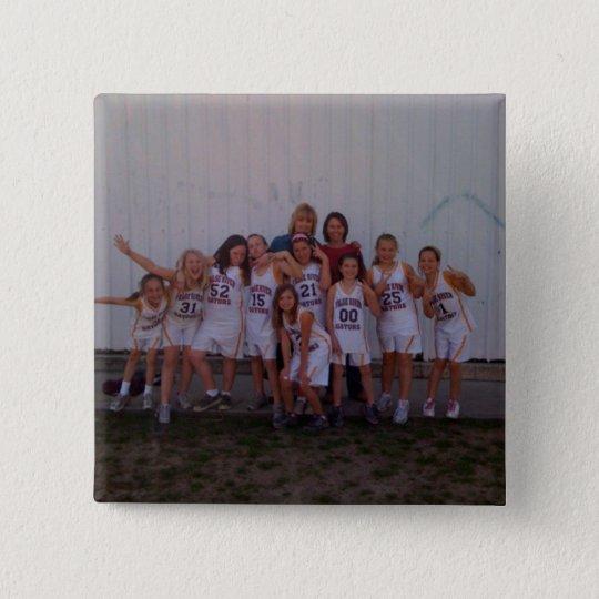 4th Grade Girls Basketball Button