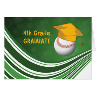 4th Grade Graduation, Softball Ball and Hat Card