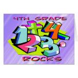 4th Grade Rocks - Numbers Greeting Card