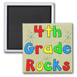 4th Grade Rocks Square Magnet
