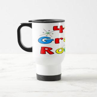 4th Grade Rocks Stainless Steel Travel Mug