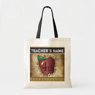 4th Grade Rocks Vintage Styled Teacher's Bag