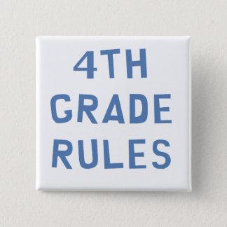 4th Grade Rules 15 Cm Square Badge