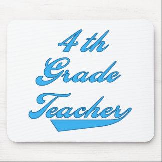 4th Grade Teacher Blue Mouse Mats