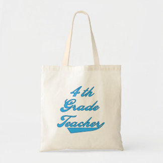 4th Grade Teacher Blue Tshirts and Gifts Tote Bag