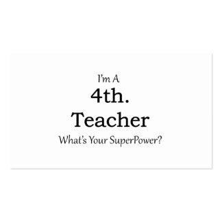 4th. Grade Teacher Pack Of Standard Business Cards