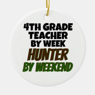 4th Grade Teacher Hunter Christmas Ornament